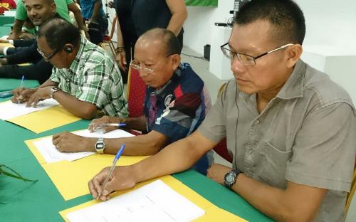 Signing of collaboration declaration by tribal leaders