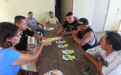 Traditional leaders using puzzle for discussing conservation priorities